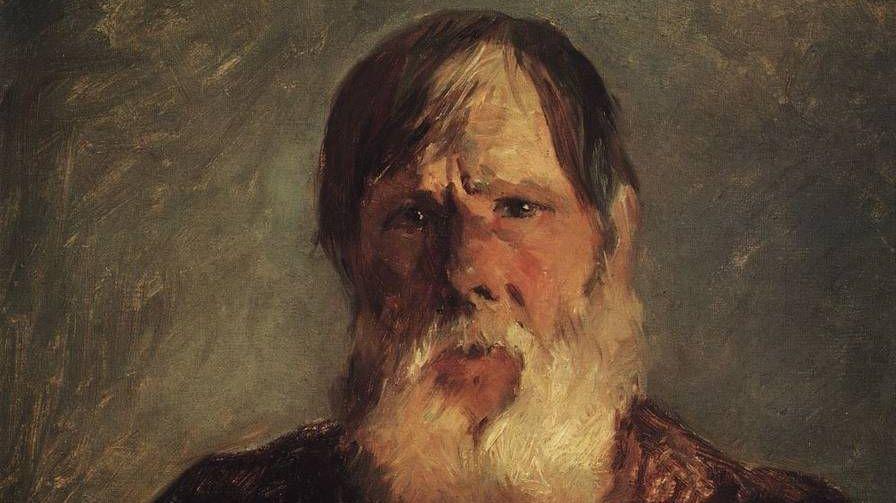 Старик-крестьянин, 1880 Фрагмент