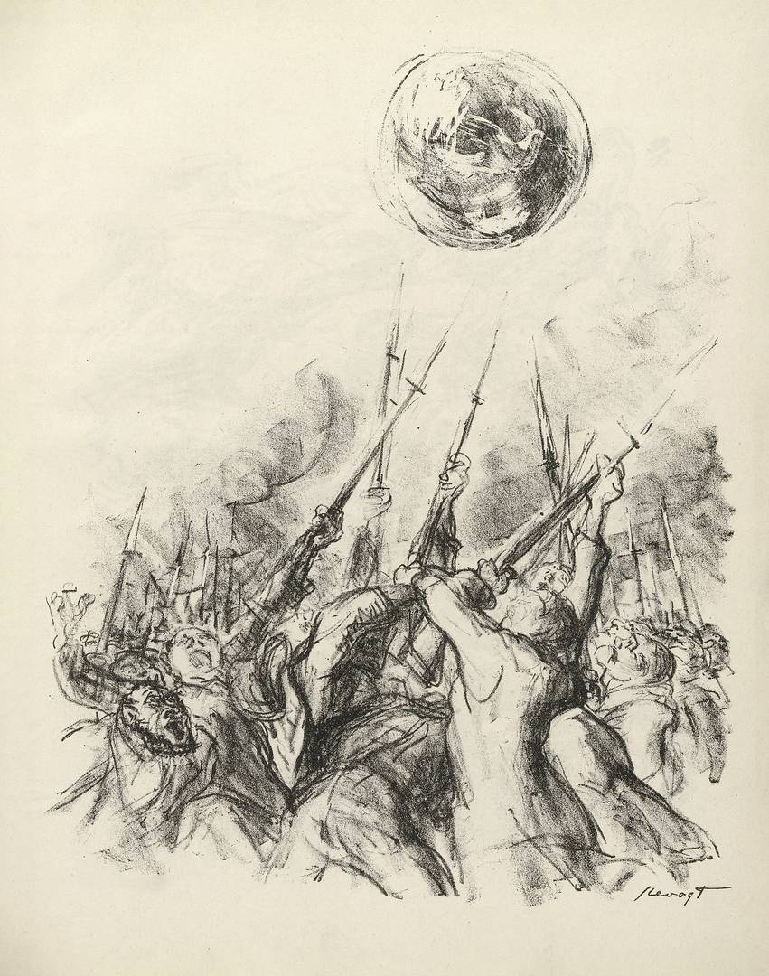 Макс Слефогт. Признаки времени X, из журнала Der Bildermann. Декабрь 1916 г.