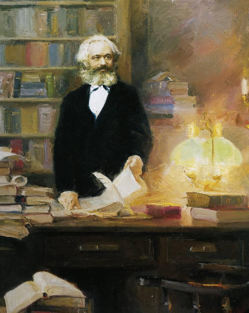Эмиль Дрейер. Карл Маркс в своем кабинете