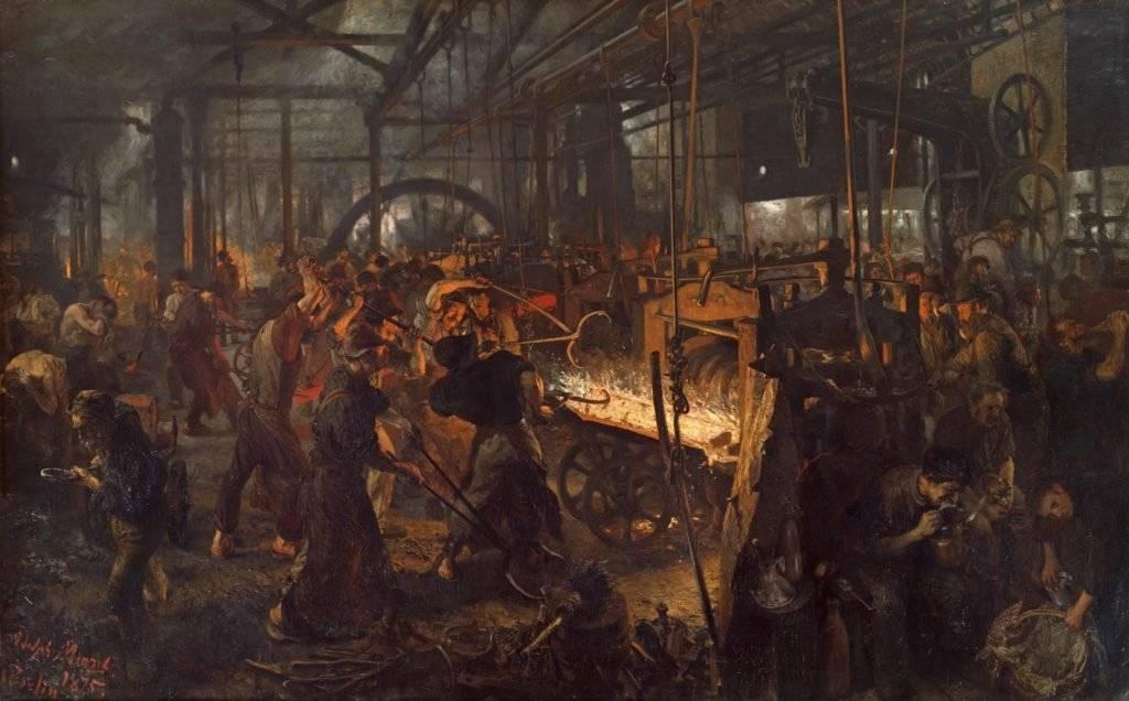 Адольф Менцель. Железопрокатный завод. 1875