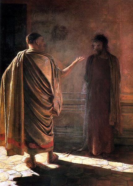 Ге Николай Николаевич. Что есть истина (Христос и Пилат)