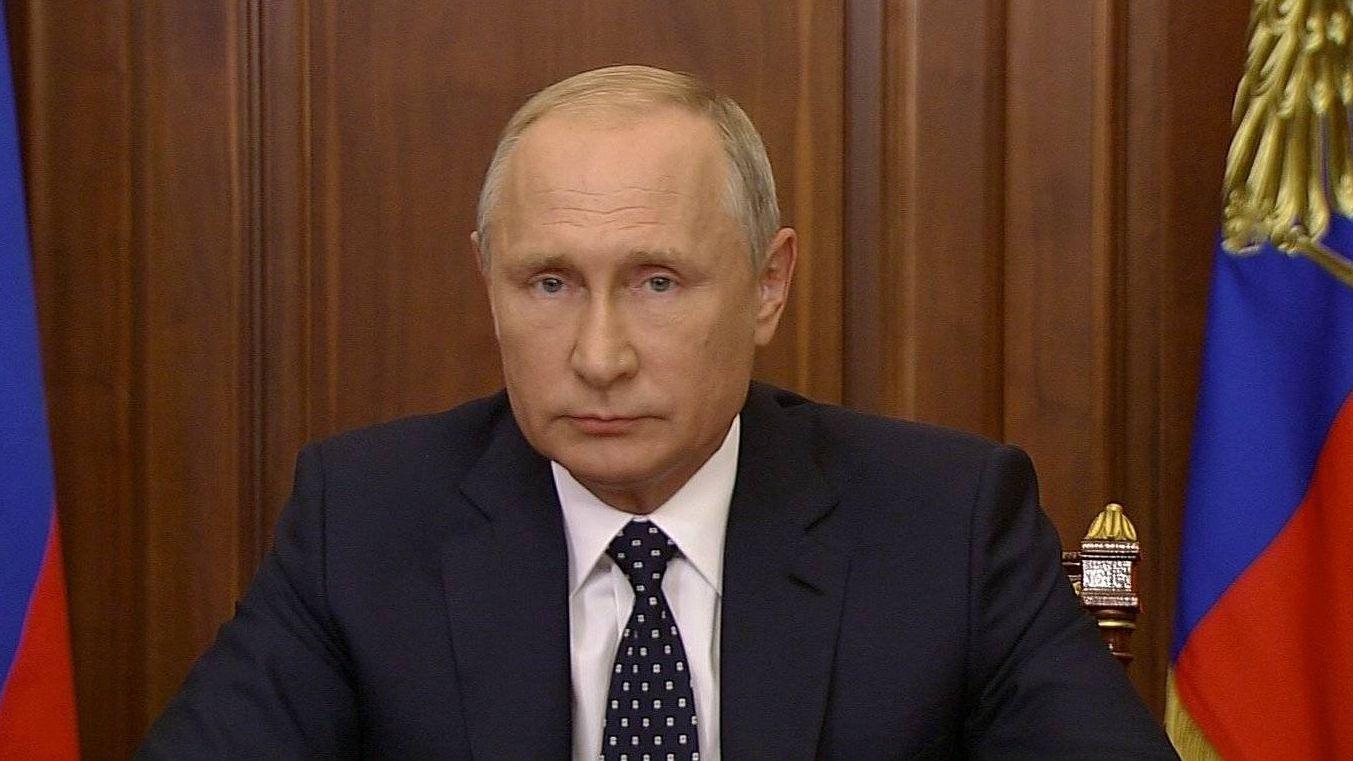Президент обращается к гражданам России, 29 августа 2018 г. (Фото: kremlin.ru)