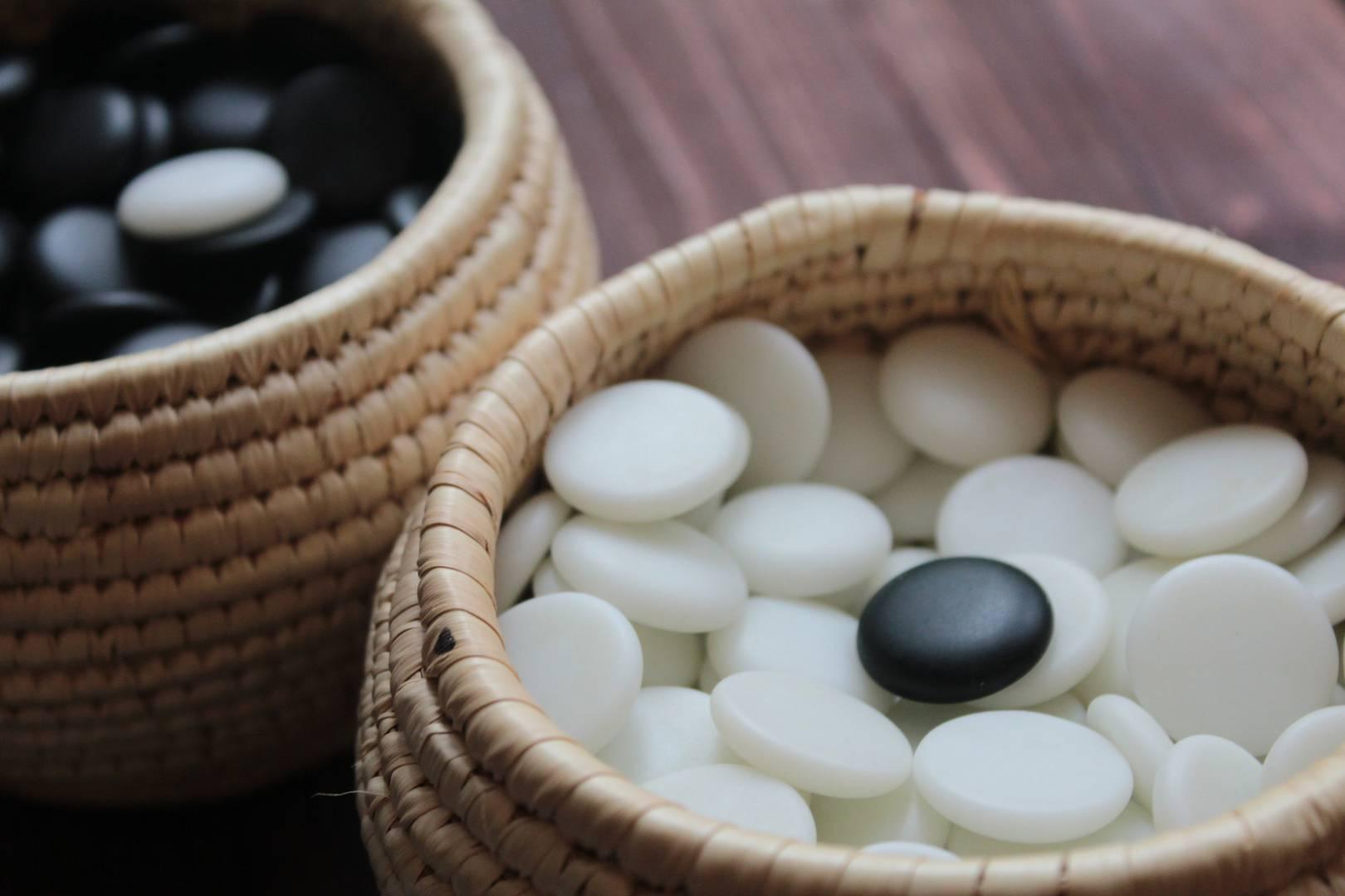 Чаши с китайскими камнями для го