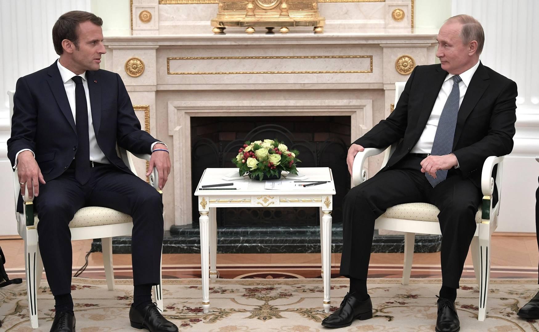 Встреча с Президентом Франции Э. Макроном