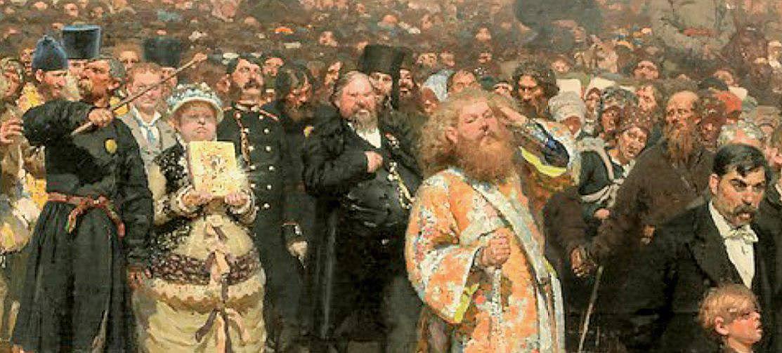 Илья Репин. Крестный ход в Курской губернии (фрагмент) 1880 - 1883
