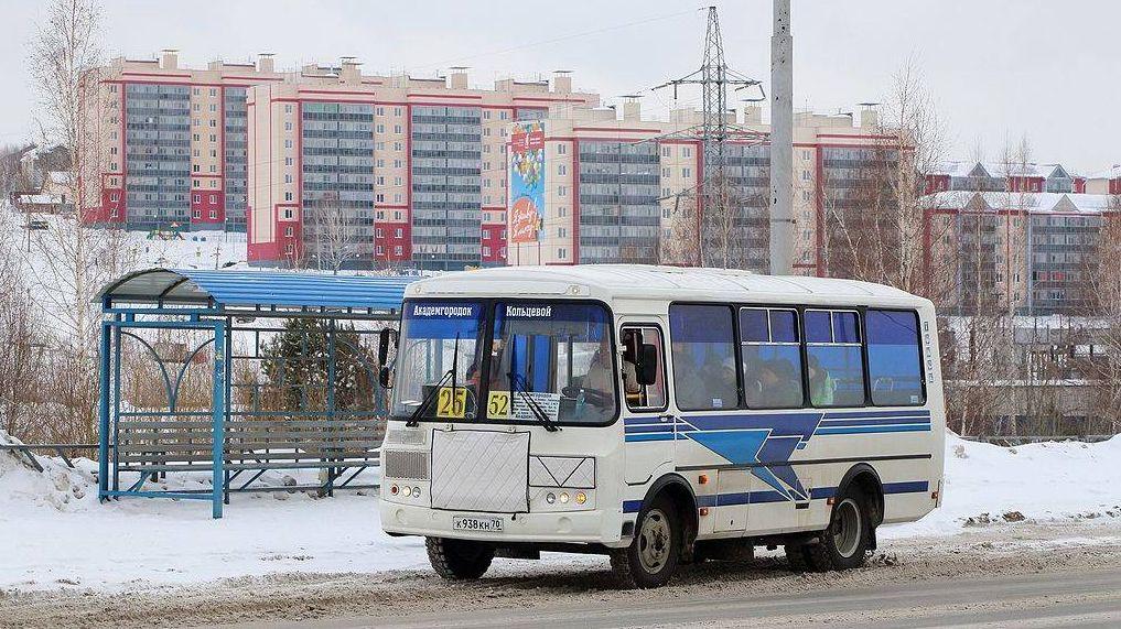 Общественный транспорт зимой