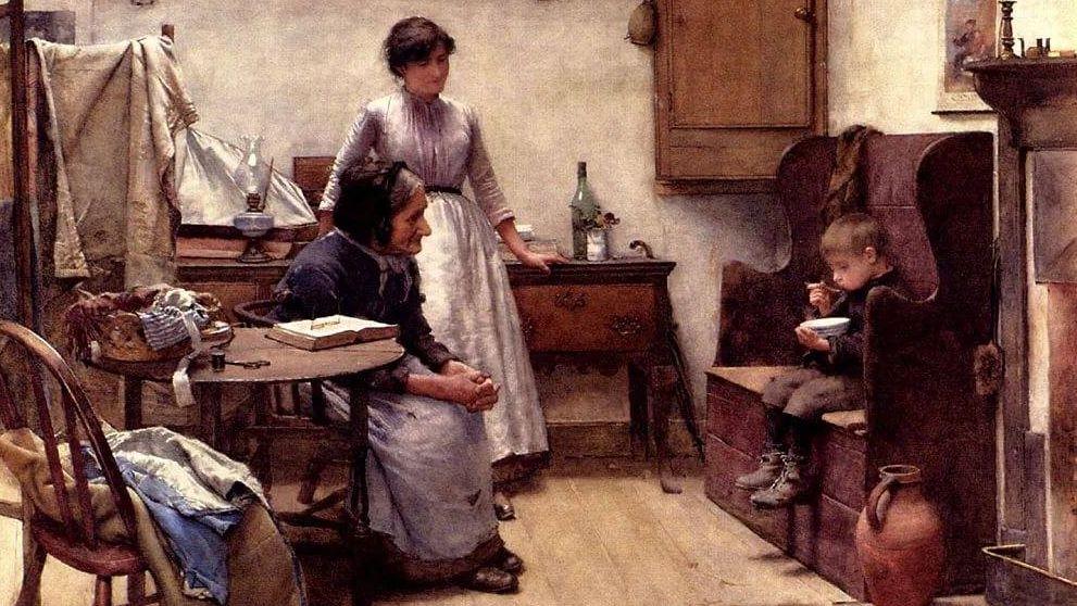 Уолтер Лэнгли. Сирота (фрагмент). 1889