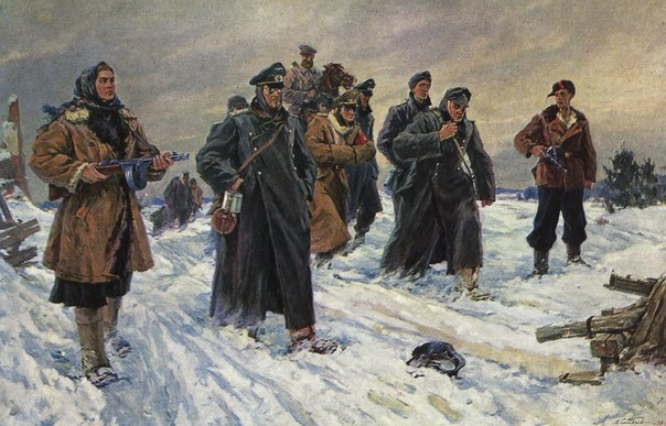 А. Шибнев. Пленных ведут. 1947