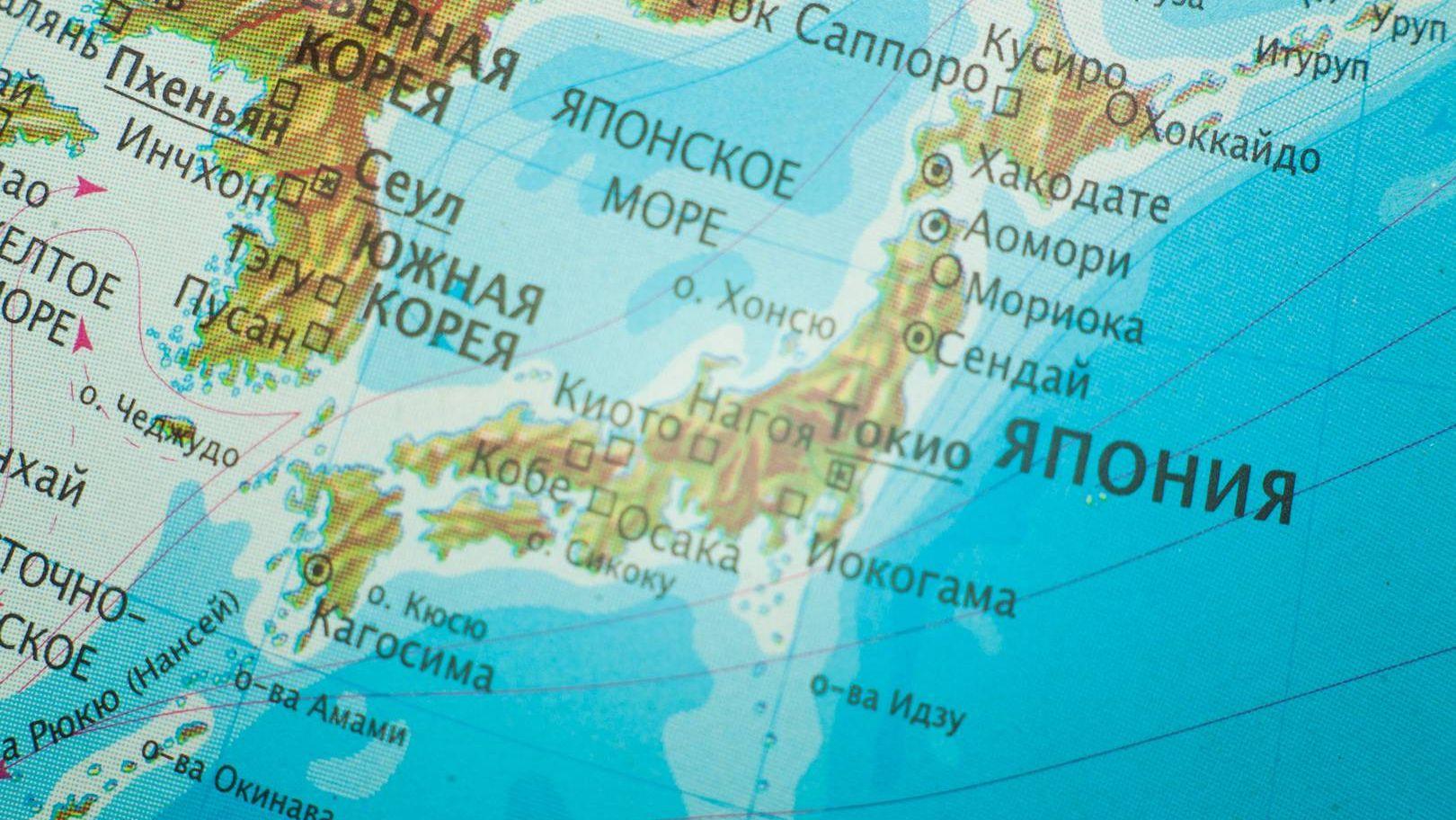 Япония. Карта