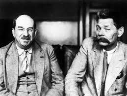 Анатолий Луначарский и Максим Горький, 1928 год