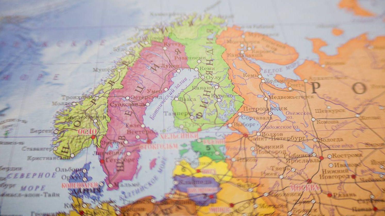 Швеция на карта мира