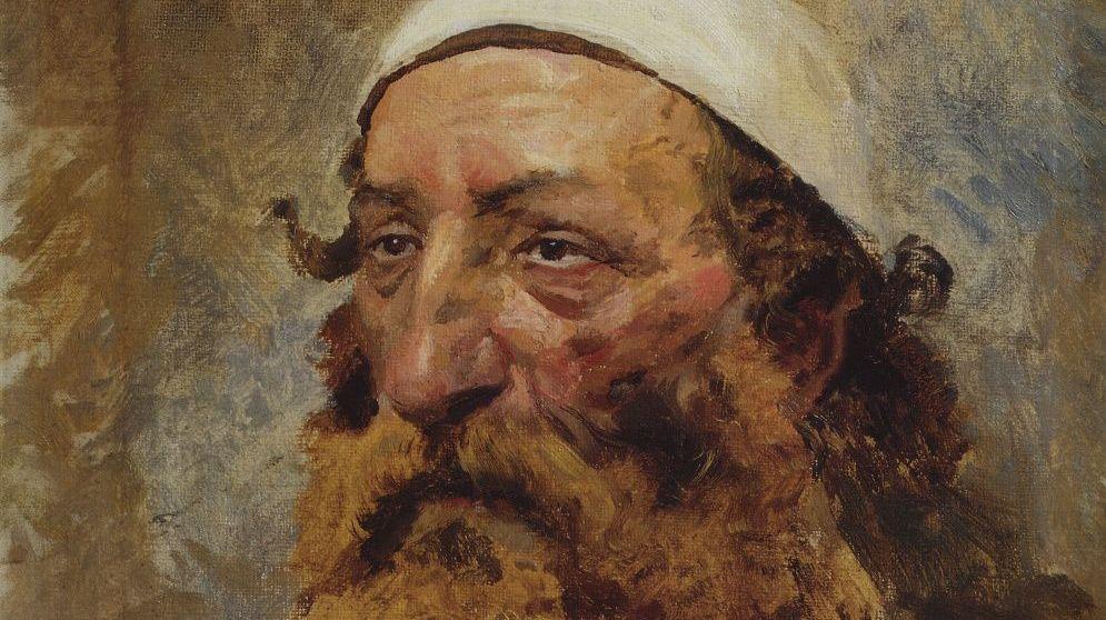 Василий Поленов. Голова еврея (фрагмент). 1884