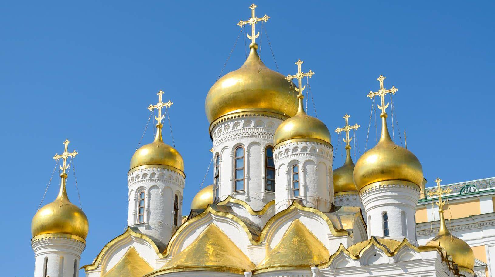 Купола, Благовещенский собор, Кремль, Москва. 12.07.2014