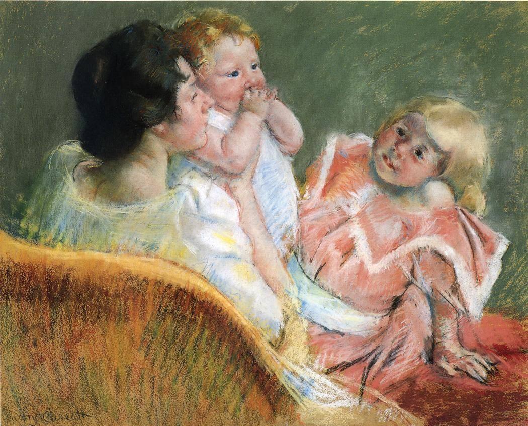 Кассат Мэри. Мать и дети. 1901