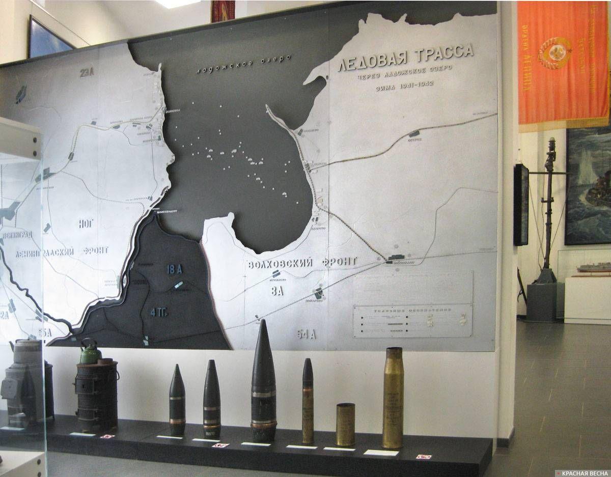 Карта боевой обстановки вокруг Ленинграда на начало блокады