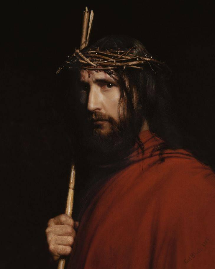 Карл Блох. Христос в терновом венце. XIX век.