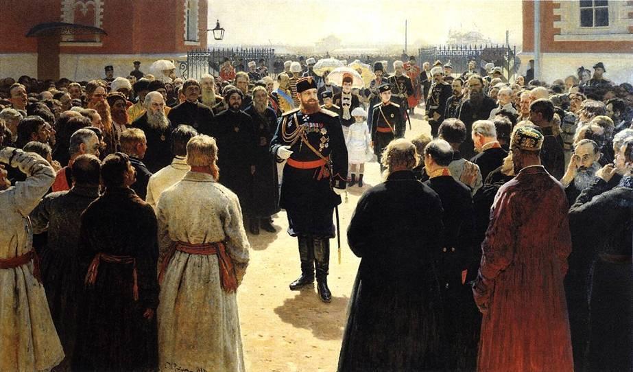 Илья Репин. Прием волостных старшин. 1885-1886