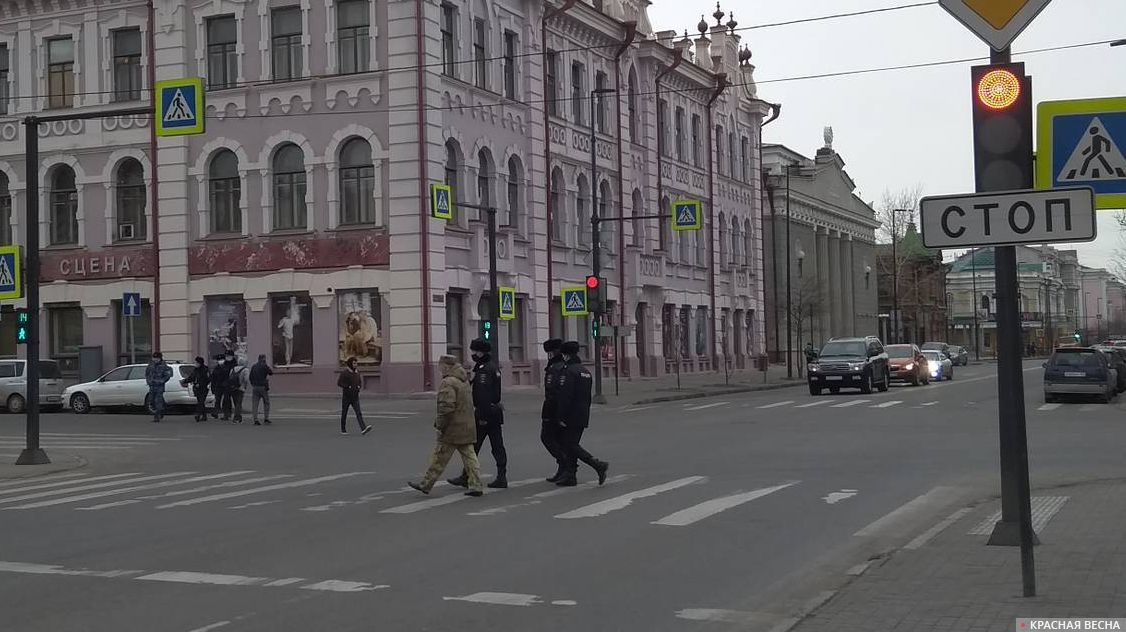 Красноярск. Полицейские патрули