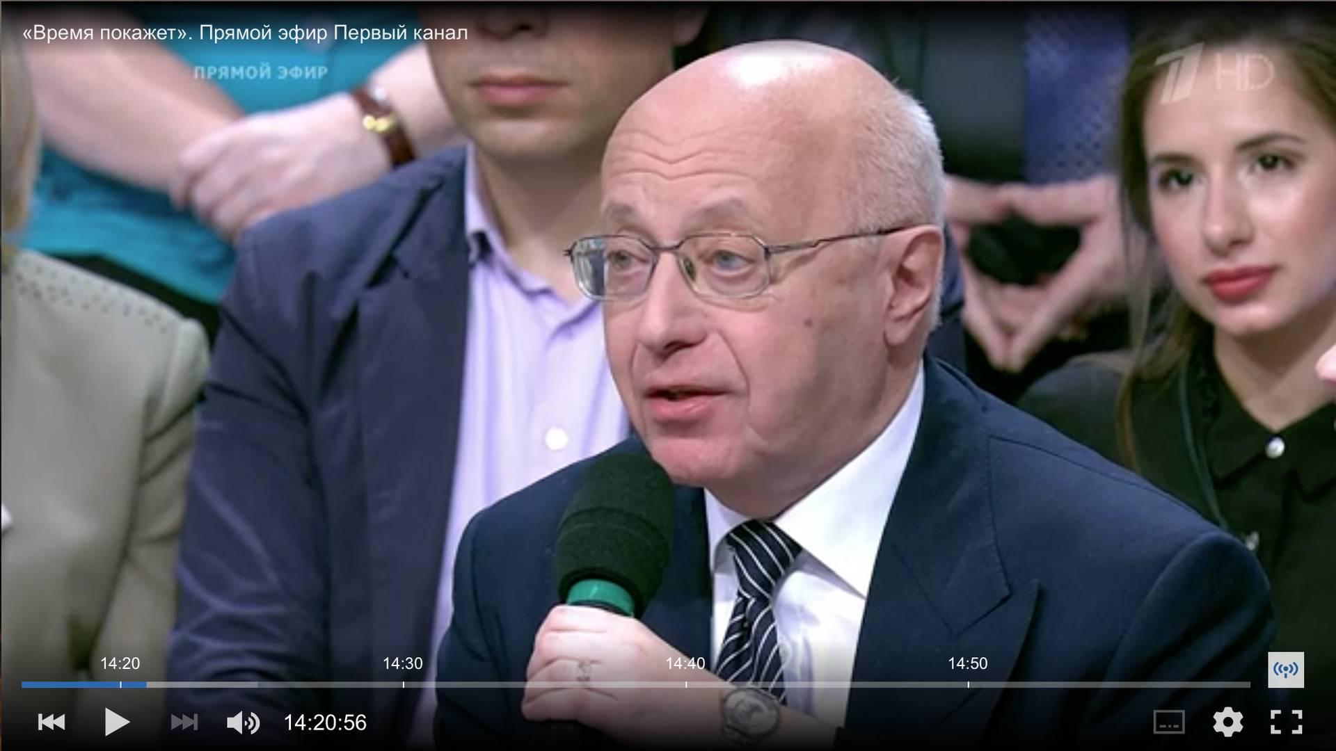Сергей Кургинян открывает обсуждение послания Президента на Первом канале