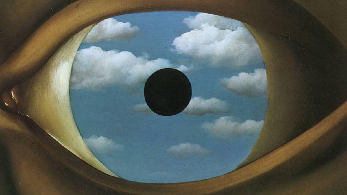 Рене Магритт. Фальшивое зеркало. 1928