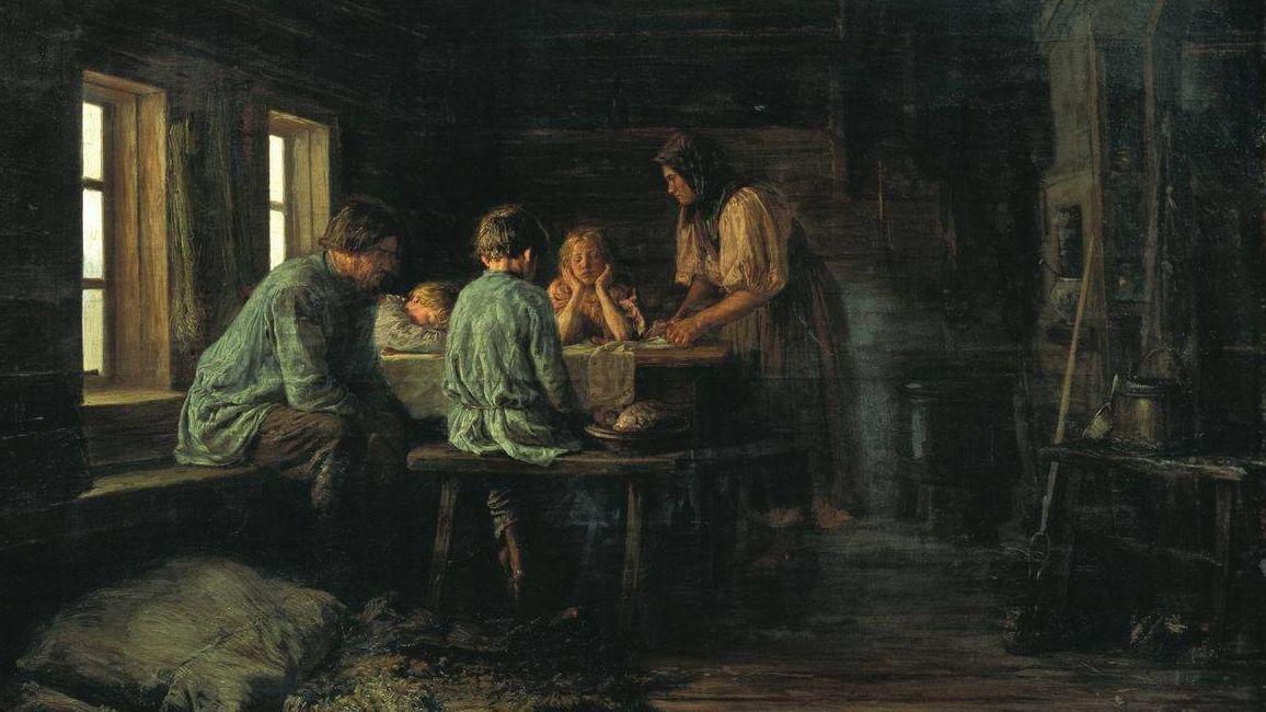 Бедный ужин. Василий Максимов. 1879.jpg
