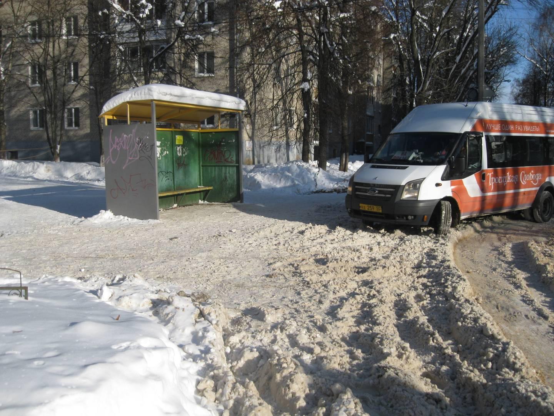 Остановка на улице Шлякова. Сергиев Посад.