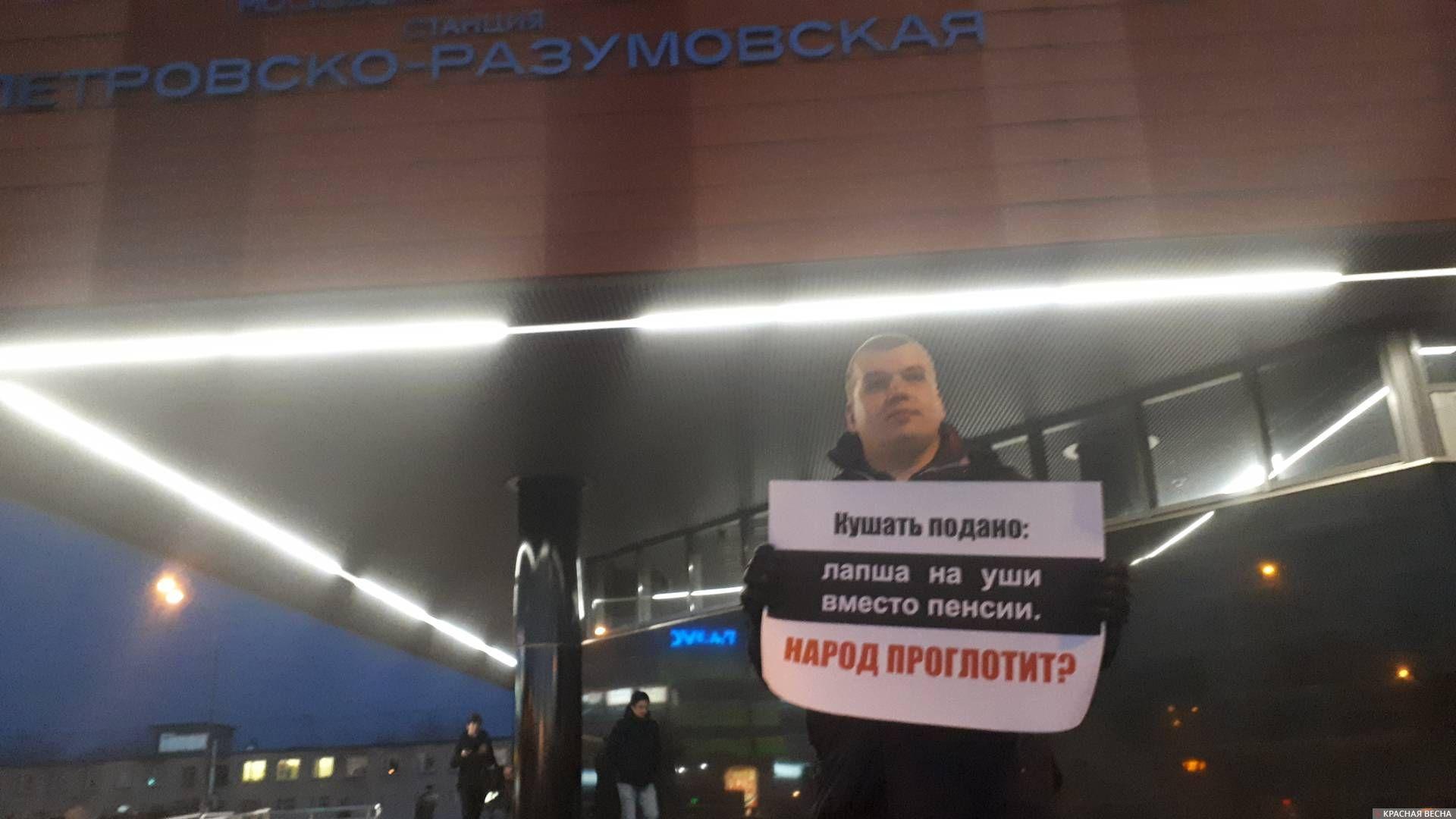 Пикет возле м.Петровско-Разумовская, Москва