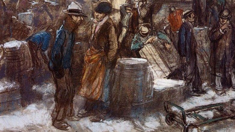 Эверетт Шинн. Доки Нью-Йорка. 1901