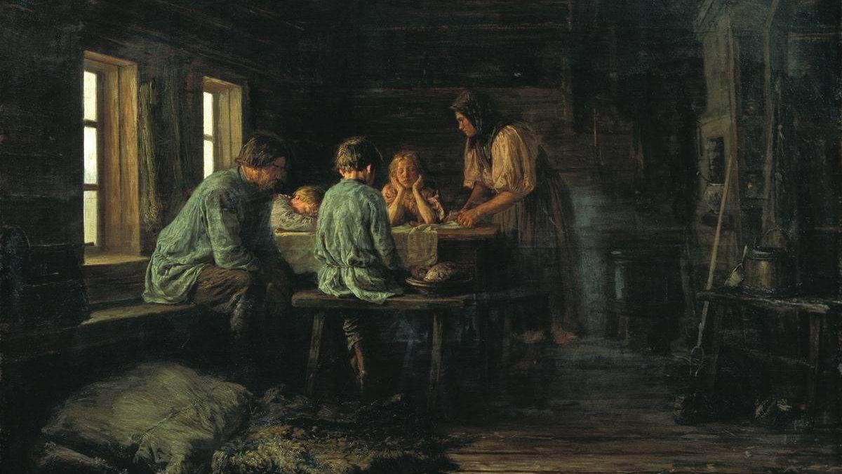 Василий Максимов. Бедный ужин. 1879.jpg