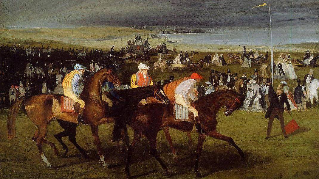 Эдгар Дега. На скачках. Старт. 1862