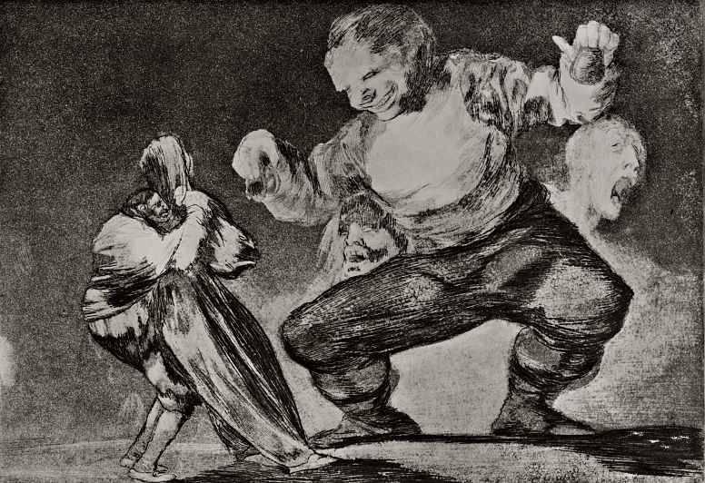 Франсиско де Гойя. Идиот. 1819
