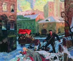 Борис Кустодиев. Октябрь в Петрограде. 1917