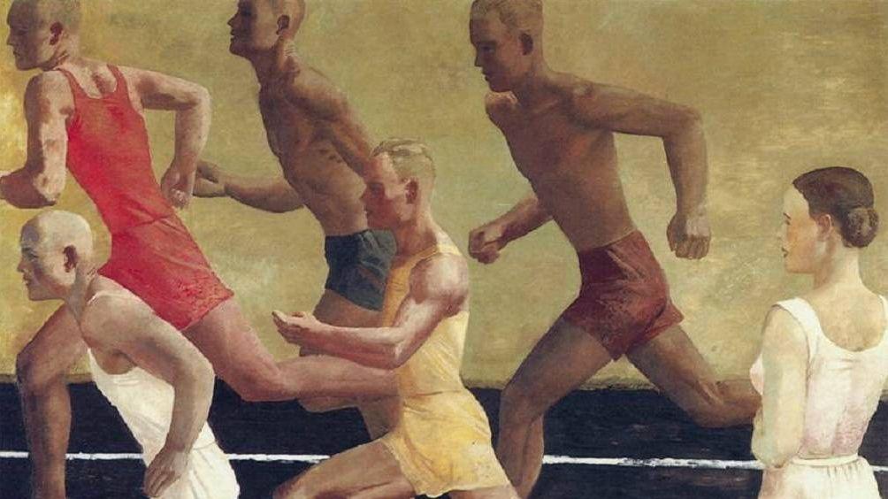 Александр Дейнека. Бег. Фрагмент. 1933