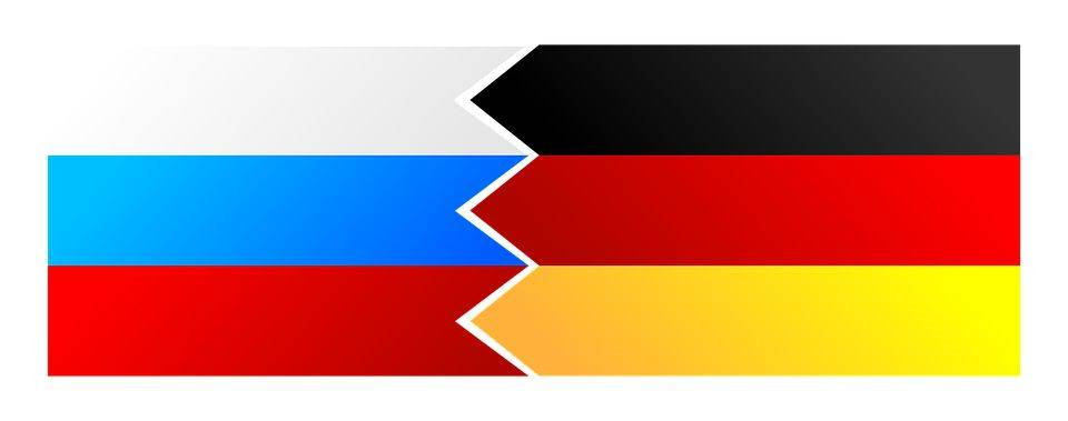 Флаги России и Германии