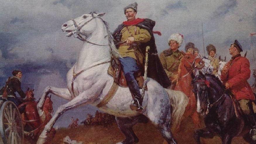 К.Китайка. Портрет В. И. Чапаева.1955