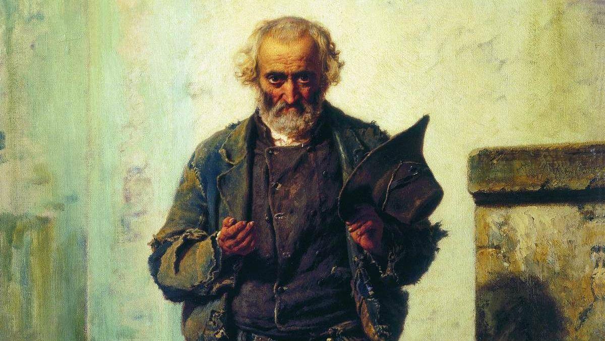Федор Бронников. Старик-нищий. 1869 год