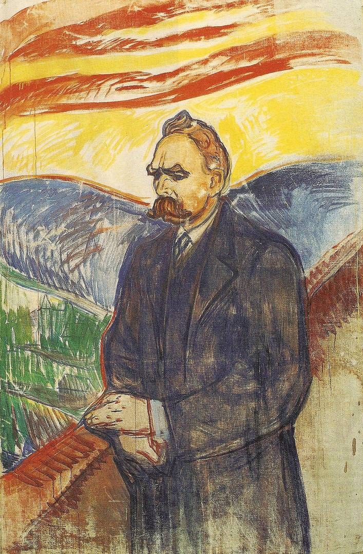 Эдвард Мунк. Портрет Фридриха Ницше. 1906