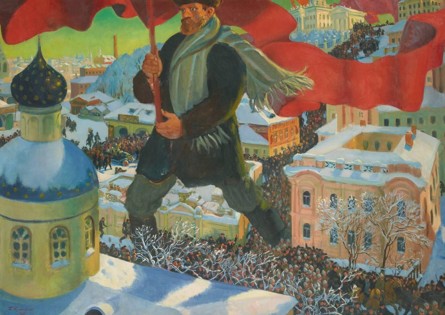 Кустодиев Борис Михайлович. Большевик. 1920