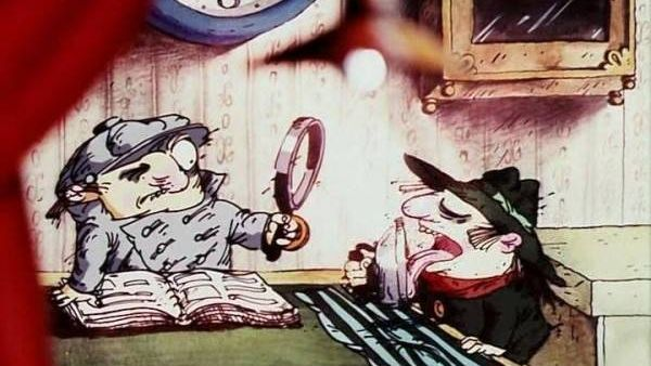 Цитата из мф Следствие ведут Колобки. Реж. Александр Татарский, Игорь Ковалёв. 1986. СССР