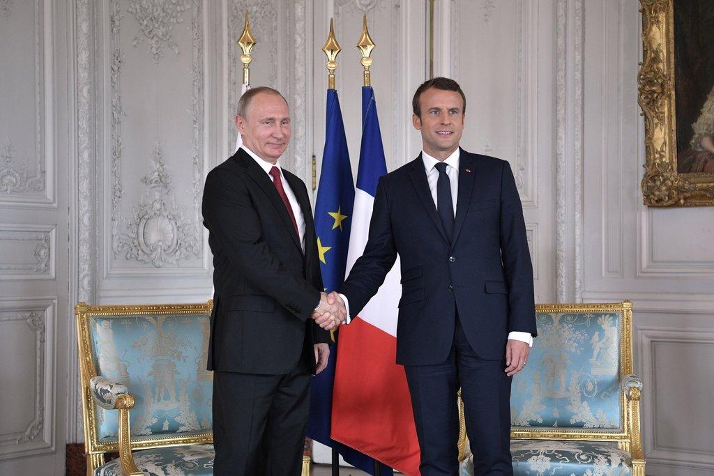 Владимир Путин и Эммануэль Макрон [putin.kremlin.ru]