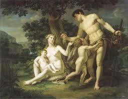 Иванов Андрей. Адам и Ева с детьми под деревом. 1803
