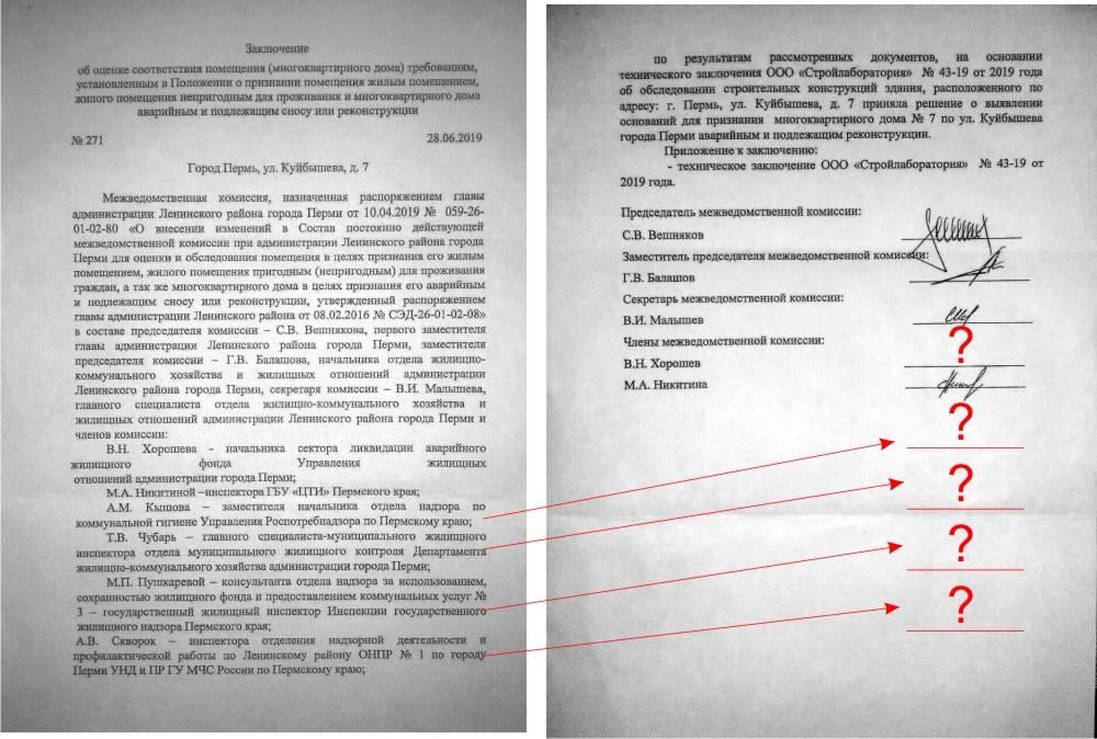 Заключение межведомственной комиссии