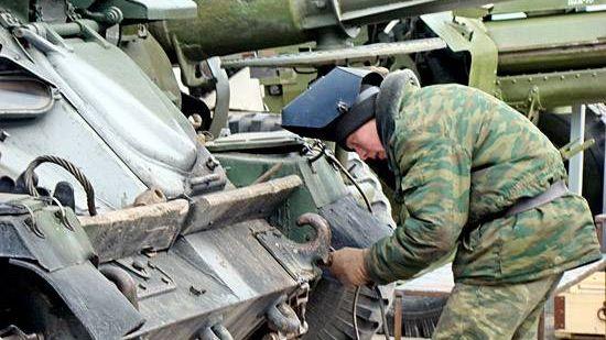 Ремонт гусеничной военной техники
