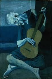 Пабло Пикассо. Старый гитарист. 1903