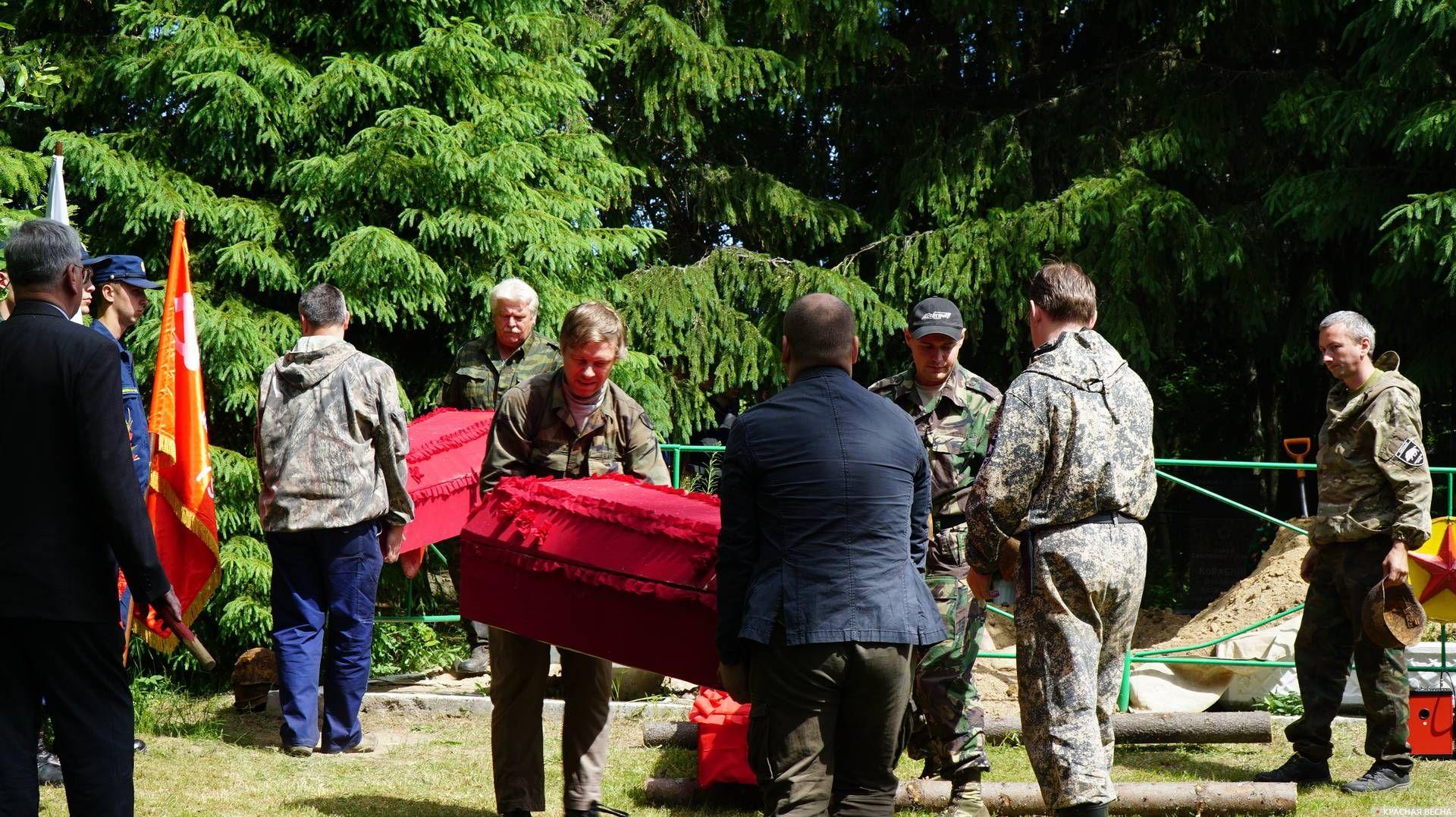 Погребение останков. Ленобласть. 12.06.2019