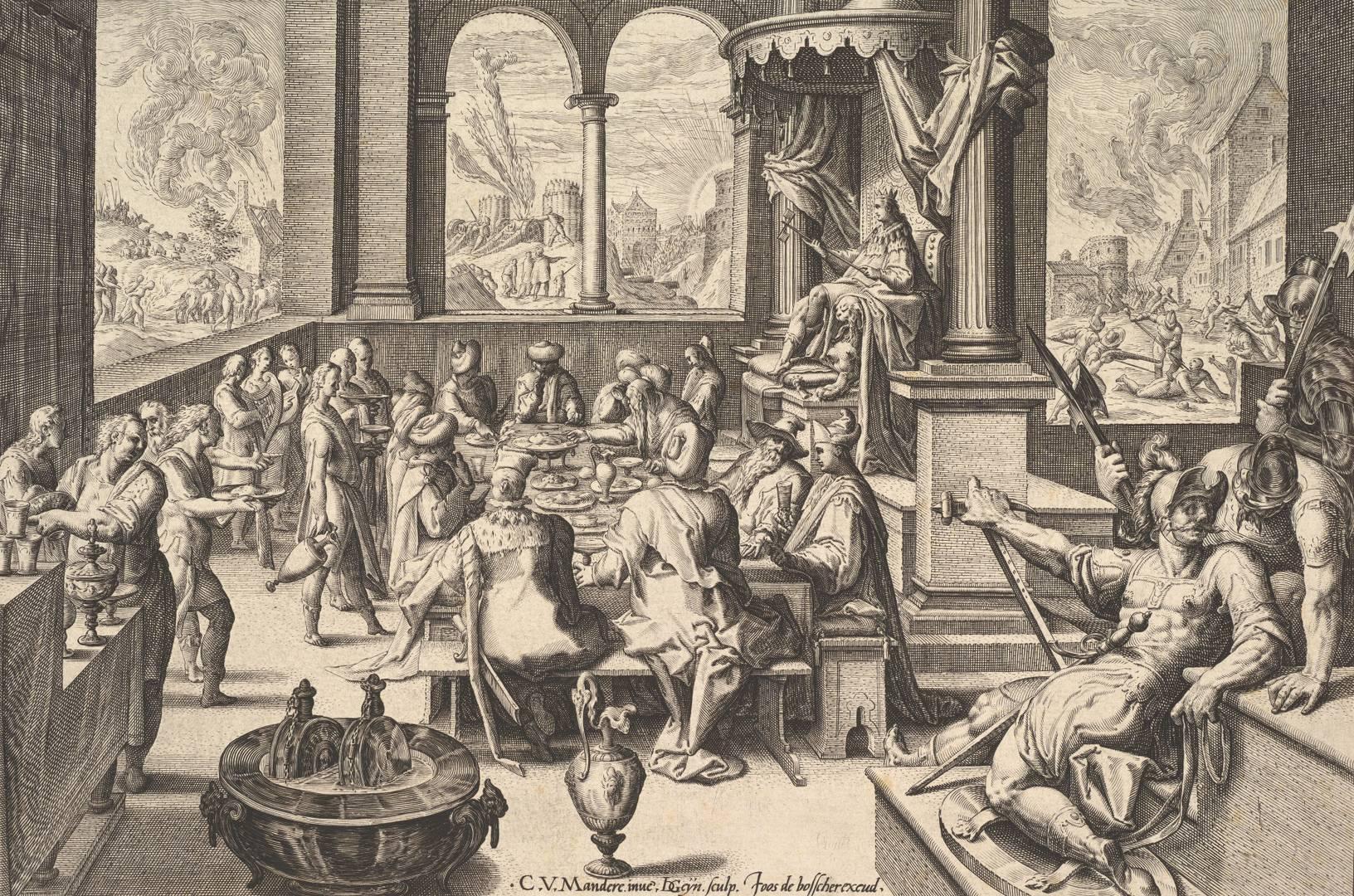 Якоб де Гейн II после Карела ван Мандера I. Аллегория правительства инфантильного короля. 1588