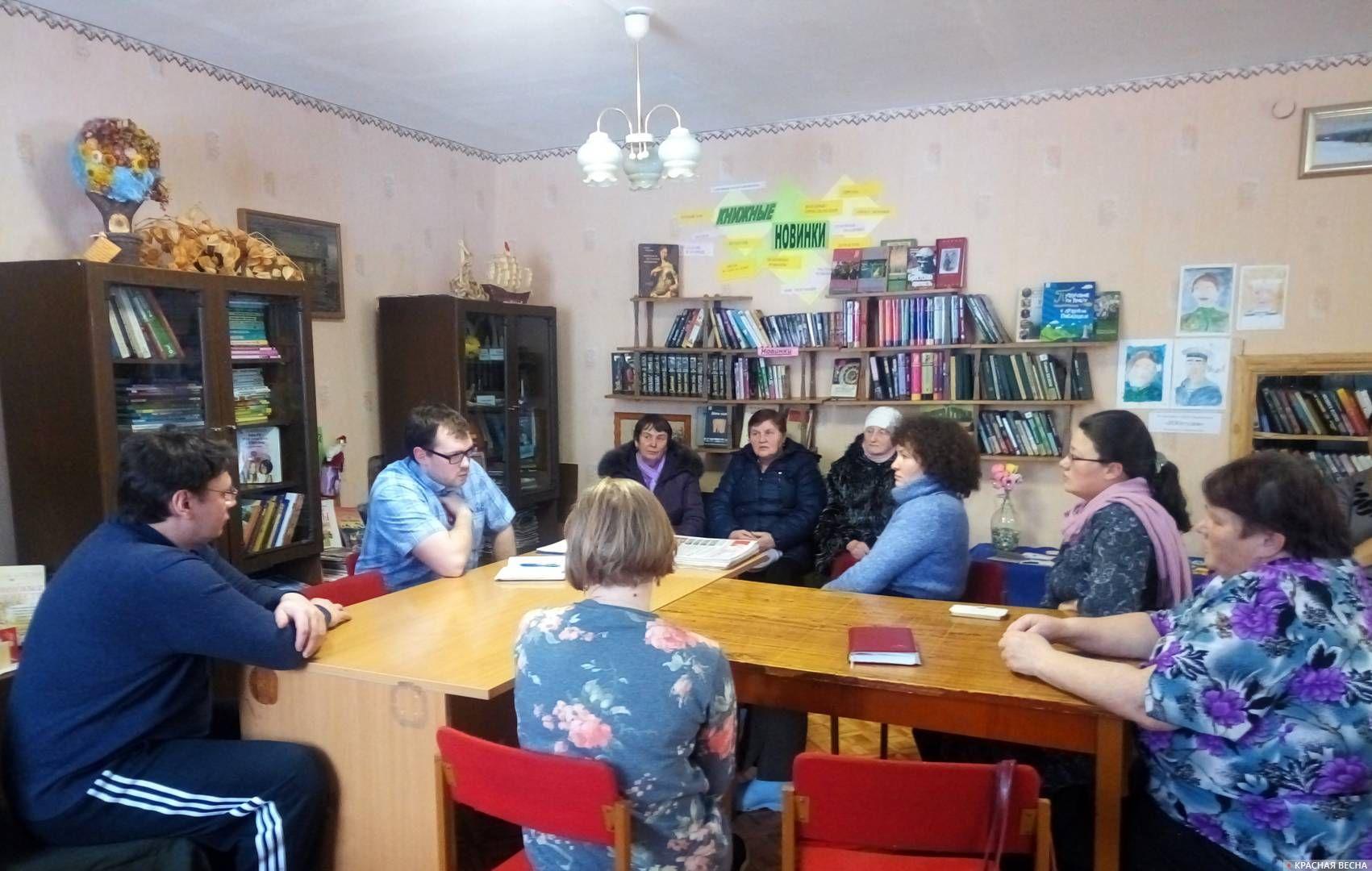 Встреча по пенсионной и мусорной реформам. Село Чусовое, Шалинский район, Свердловская область