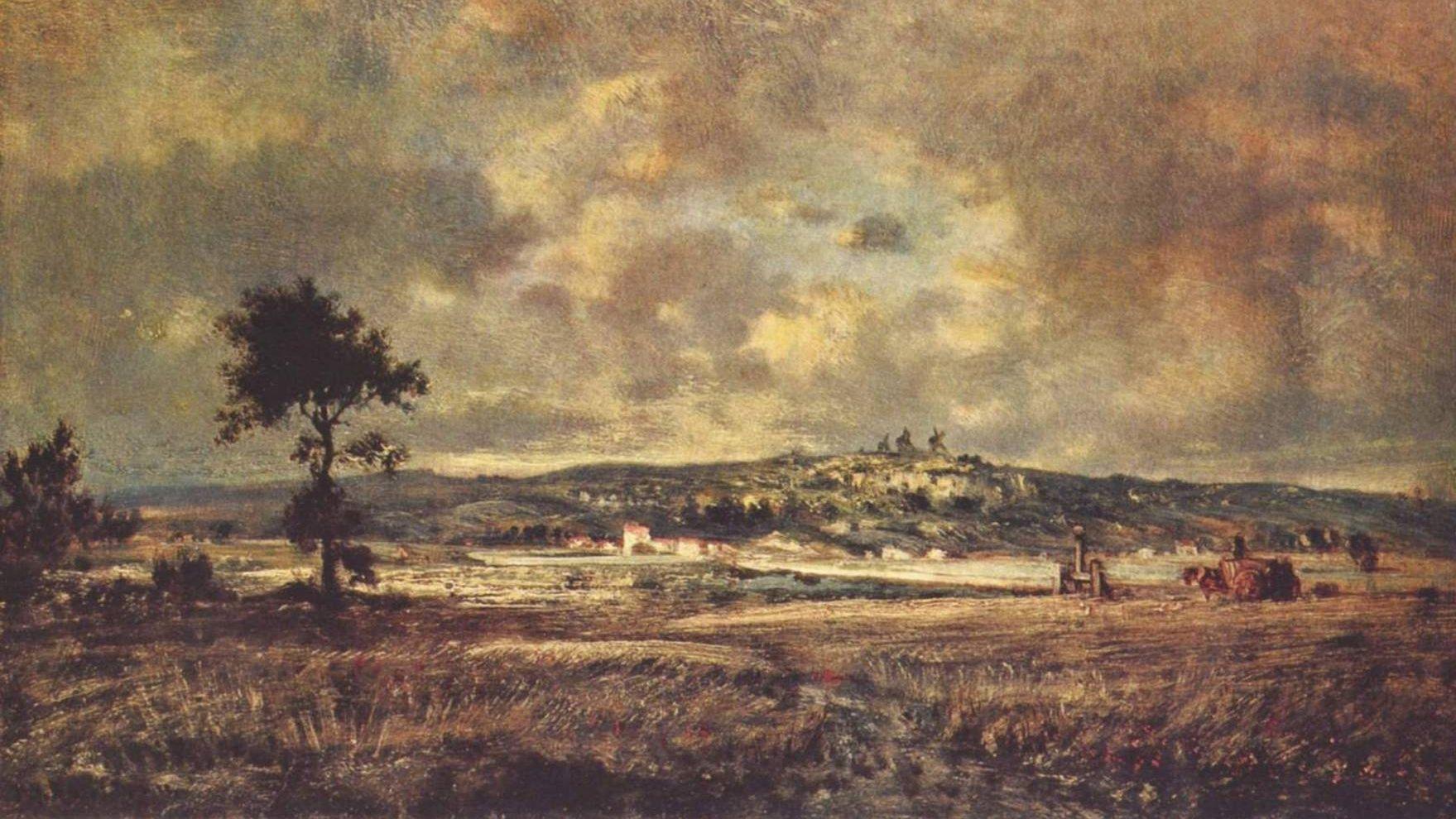 Теодор Руссо. Надвигающаяся гроза. 1845