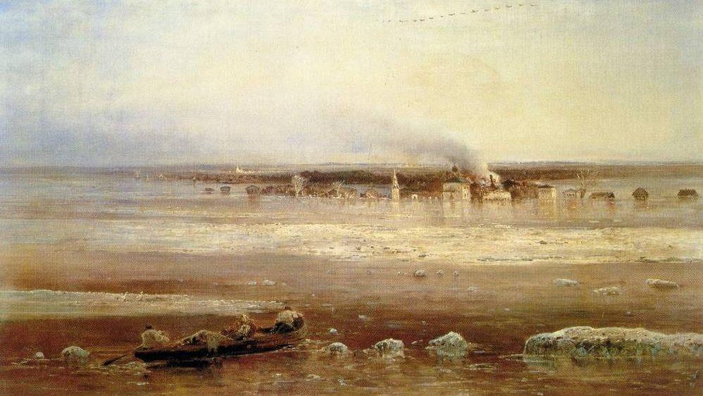 А. Саврасов. Разлив Волги под Ярославлем. 1871