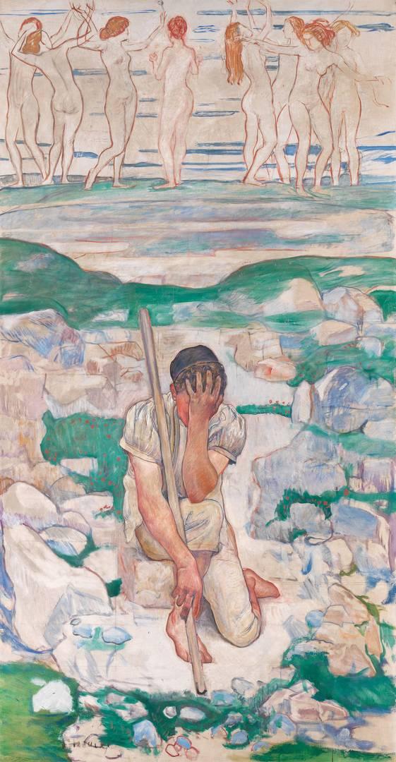 Фердинанд Ходлер. Сон пастуха. 1896